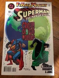 the final night superman the man of steel #62 NOV 1996