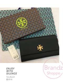 Ready Stock @ Tory Burch Women Genuine Leather Long Wallet / Purse (1 Unit Only)