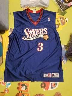 NBA Champion Allen Iverson Sixers authentic jersey