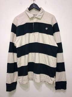 伏見古著 Tommy Hilfiger 黑白條紋美式polo衫 監獄條紋上衣 vintage