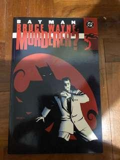 batman bruce wayne murderer? 2002 1st edition