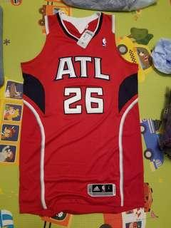 NBA 波衫 Kyle Korver Authentic Hawks Jersey