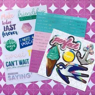 Scrapbook Stickers Embellishment Packs <Splendid>