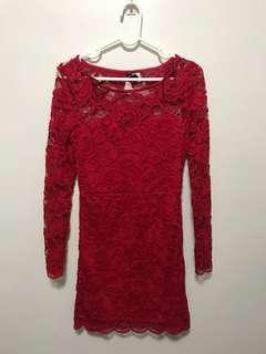 Lacey Red dress