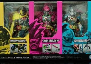 絕版Shf Kamen Rider Ex-Aid 玩具模型(內附限量版特別ex-aid底座乙塊)