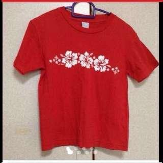 $59 Ocean Pacific Glittering Flowers Red T-Shirt from USA (Brand New)