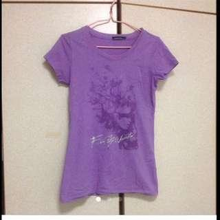 Gorgeous Purple Tee With Shiny Silver Words ( Brand New)