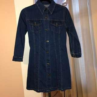 ZARA Denim Mini Dress