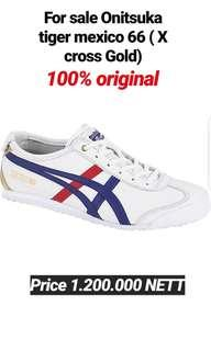 FOR SALE NEW 100% ORIGINAL AUTHENTIC ONITSUKA TIGER MEXICO 66 ( X CROSS GOLD)