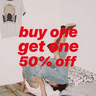 BOGO 50% OFF ON ALL ITEMS
