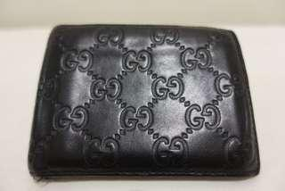 Used Genuine Gucci Signature Black Leather Wallet