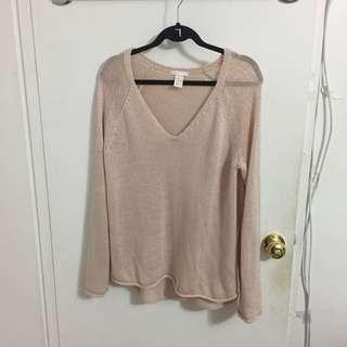 light pink vneck sweater from h&m