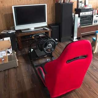 PS3主機➕賽車椅➕賽車片*6➕電視