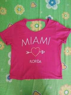 Pink Miami Crop Top (backless)
