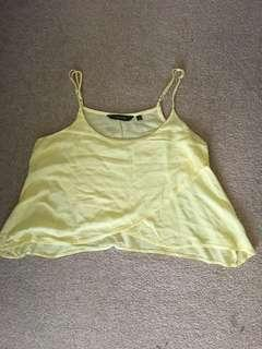 Glassons Flowy Yellow Singlet Cami