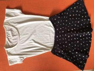 Children's skirt and shirt