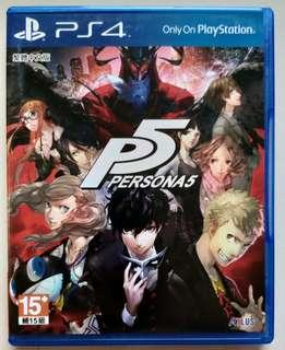 PS4 Persona 5 Chinese version