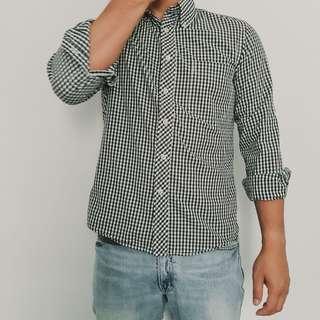 Uniqlo shirt casual - kemeja kotak kotak uniqlo