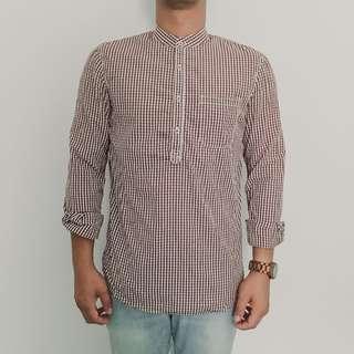 Cotton On Flannel Shirt - Kemeja Cotton On Butang Separuh