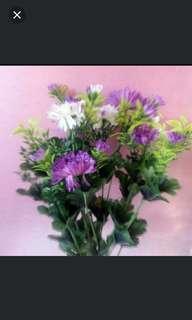 2色菊花, 人造绸花永久鲜艳,不凋谢