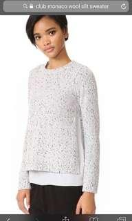 "Club Monaco Wool ""Slit"" sweater"