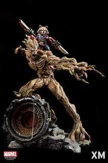 XM Studio 1/4 Scale Statue Rocket and Groot