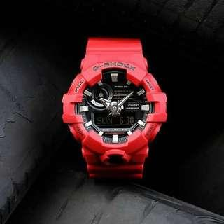 👹👹100% Authentic Casio Gshock Unisex GA700 Red with FREE DELIVERY 📦 G-Shock Sports Watch BRAND NEW