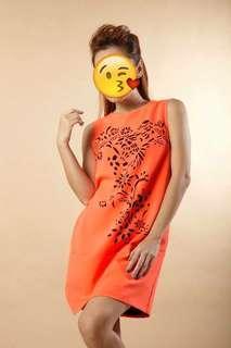 Orange A Dress