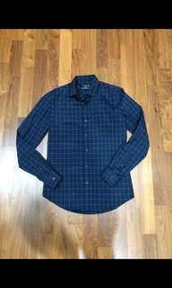 Topman Window Pane Checkered Shirt