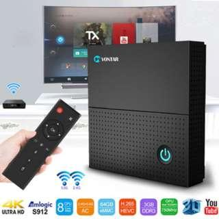 TX92 ANDROID 7.1.2 TV BOX 3GB DDR4 32GB EMMC FLASH S912 WITH BLUETOOTH