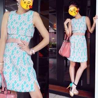 Nice Pastel Tone Print Dress