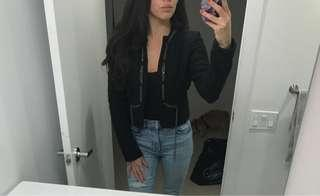 Marciano Black Tweed Blazer Jacket Size Small