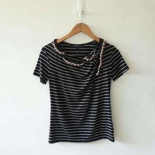 Maxmara Jeweled neckpice shirt
