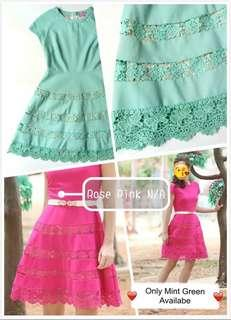Green Two Layered Dress