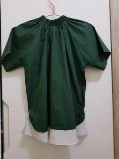 Green blouse cotton ink