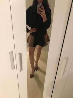 Zara Black & Brown High Skirt Size Small