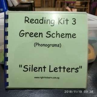 🚚 Monterssori GREEN SCHEME - PHONICS - SILENT LETTERS BOOKLET