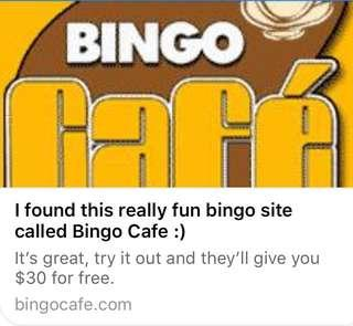 Free $30 USD at Online Bingo Cafe (Link in Description)