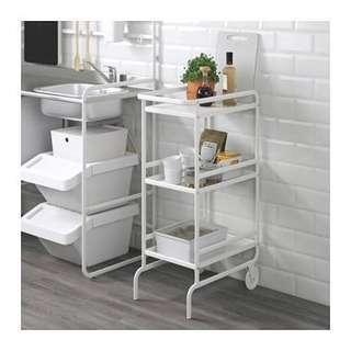 Ikea SUNNERSTA white trolley