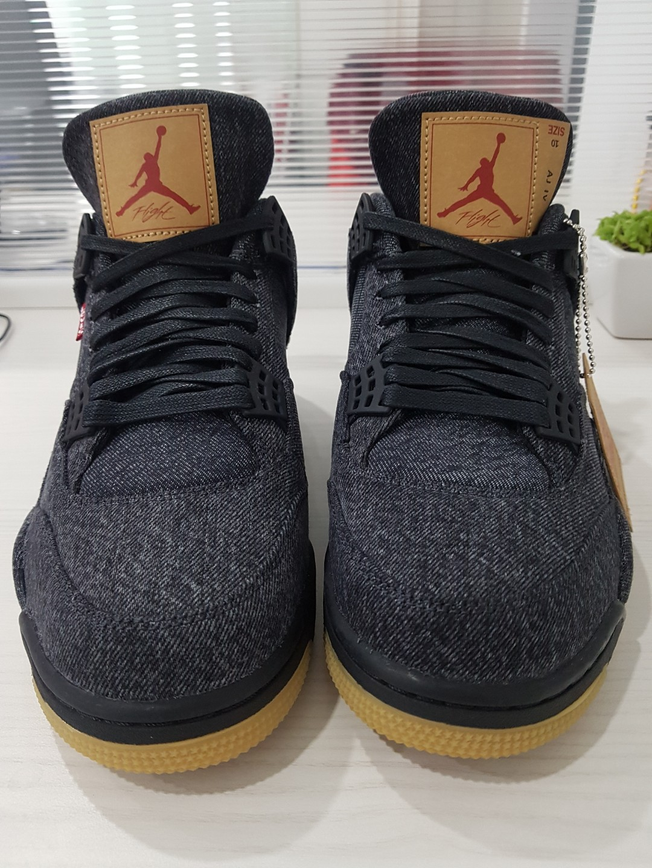 32ce86a1b431 100% Authentic Air Jordan 4 Retro x Levi s Men s Shoes Sneakers ...