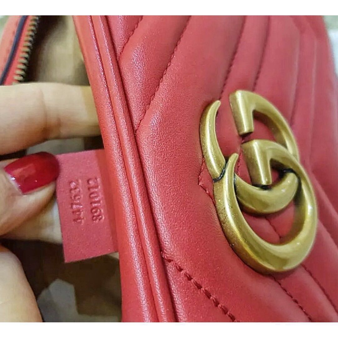 6ea177b8da02 100% Authentic GUCCI Marmont Matelassé leather red bag SALE, Luxury, Bags &  Wallets on Carousell