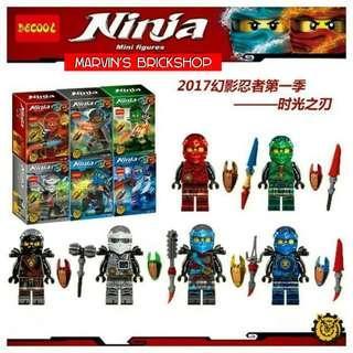 DECOOL 10053-10058 NINJAGO 6in1 Minifigures