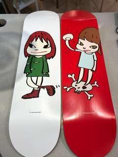 奈良美智skateboard (girl on top of skull(