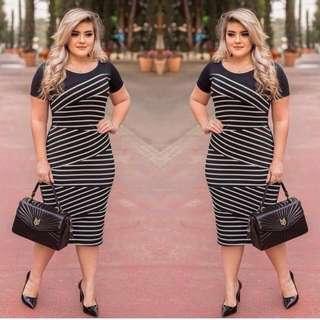 Restock Stripe plus size dress