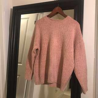 Pink Thick Sweater