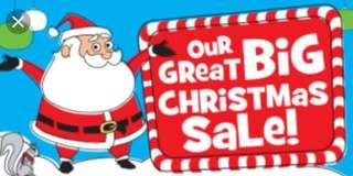 Big Xmas Sale-Saturday November 24th 9am-2pm