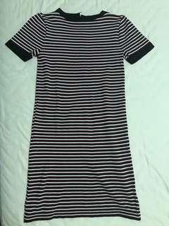 Stripe red black white Dress