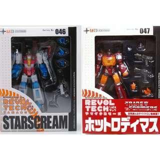 Kaiyodo Revoltech Yamaguchi 046 047 Transformers Starscream Rodimus Set of 2
