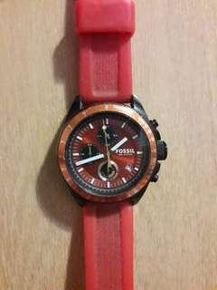 Original Fossil Sports watch with silicone band