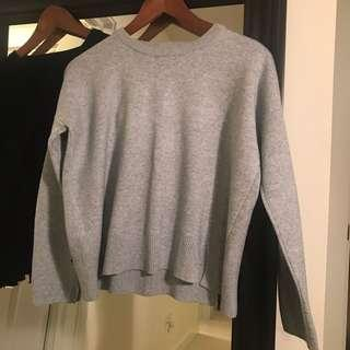 Black or Grey 4 Slits Sweater